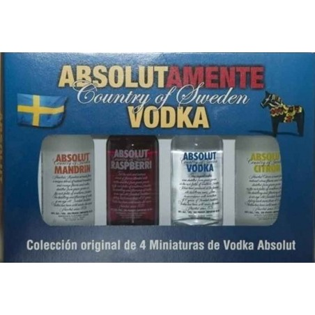 MINIATURA COLECCION VODKA ABSOLUT